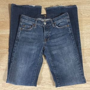 7 For All Mankind Flare Jeans Medium Wash 27